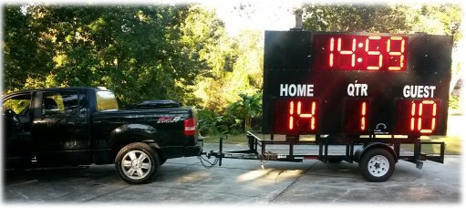 scoreboard on trailer