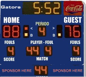basketball with shot clock