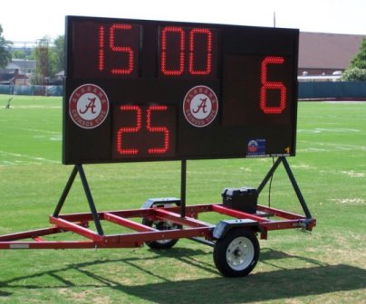 mobile scoreboard football clock
